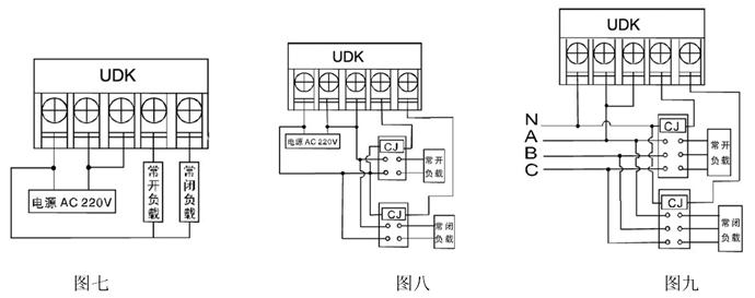 控制接触器的线圈电压为ac220v,50hz的接线方法如 图九所示.